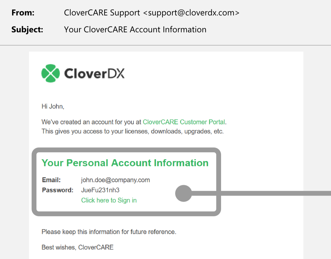 Sign in | CloverCARE Support
