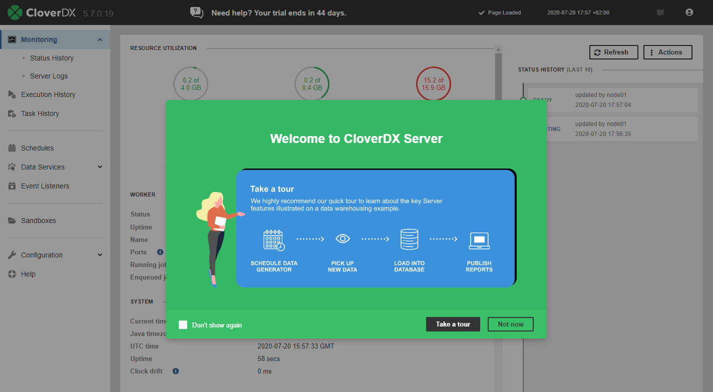 CloverDX Server guided tour
